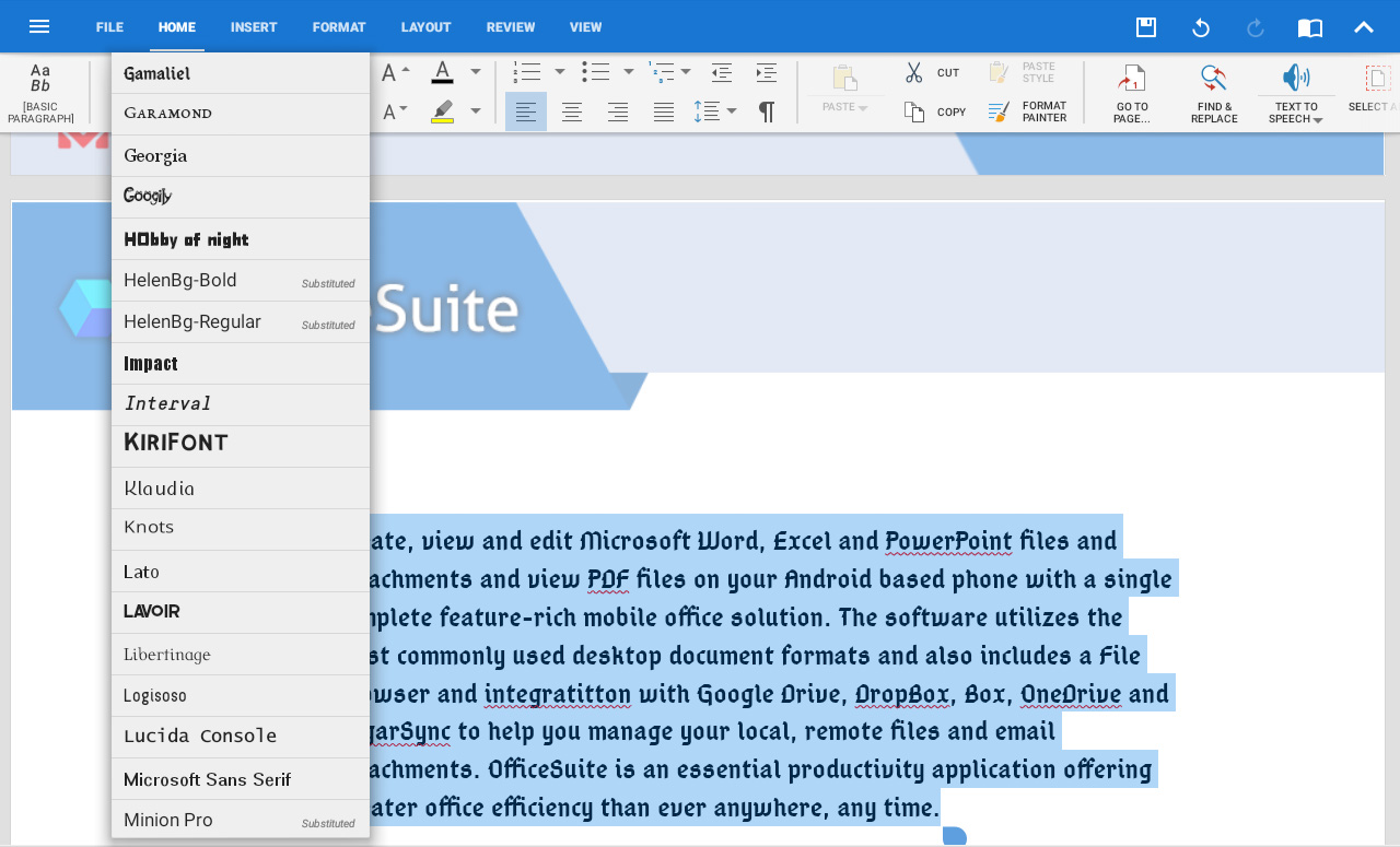 Download OfficeSuite Microsoft Compatibility Font Pack