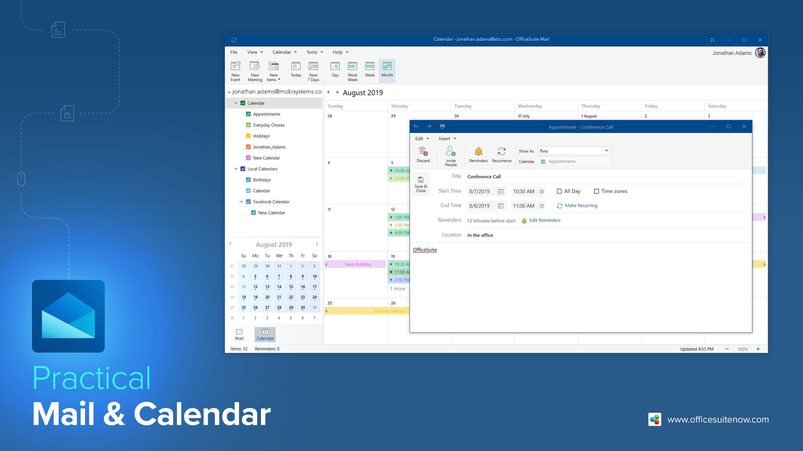 OfficeSuite 메일 및 캘린더